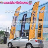 Fiberglass pole polyester fabric flag outdoor wholesale custom teardrop flag for advertising