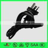 SAA approval 10A 250V Australian standard 3 pin AC power cord plug with IEC C13 connector