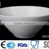 Wholesale hotel restaurant banqent cheap white dinner porcelain ceramic ovel shaped salad bowl