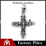 Fashion Mens Biker Jewelry Silver Casting Charm Unisex Stainless Steel Skull Cross Pendant