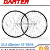 Strict process 28/32h carbon hookless rims road clincher wheelset