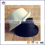 fashion male women cap fedoras spring and summer casual hat Stage performance black and white canvas jazz hat