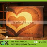 laser engraving bamboo wood business card with chip and card holder