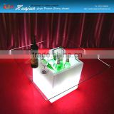 ice cooler table led bar table with ice bucket