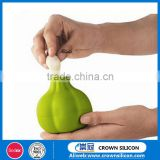 Food grade garlic shaped silicone peeler