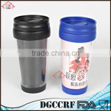 NBRSC Hot Cold Double walled plastic Vacuum Insulated tumblers, thermos auto travel mug , plastic thermal car mug