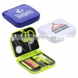 Travel Sewing Kit - has a mini scissors, needles, pins, tweezers and comes with your logo