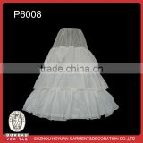P6008 Wholesale White Bridal Dress Wedding Gown Petticoat Taffeta