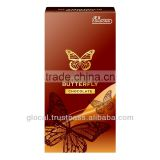 Japan flavored female condoms 'GLAMOUROUS BUTTERFLY Chocolate Flavor 500 ' --- outside top jelly-coated --- 6p