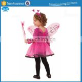 Kids Hotpink Fairy Butterfly Tutu Wings Costume Set for Party Dressup