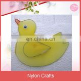 Yellow nylon duck hanging decoration for baby bedroom
