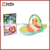 Soft animal shape baby play carpet with rattle