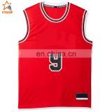 2016 red college cheap reversible new style basketball jersey uniforms designs red color