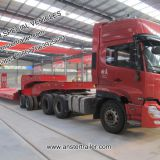 3/4/5 Axles 40/50/60 Tons Lowboy/Lowbed/Low Bed Trailer with material Q345