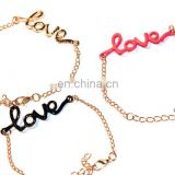 Fashion charm bracelet with various charms,love peace charm