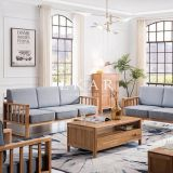 Northern Europe Solid Wood Frame With Seating Cushion Modern Furniture Sofa