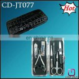 7pcs promotion gift mini leather manicure pedicure kit CD-JT077