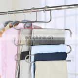 Good quality S-type mult-purpose stainless steel scarf hanger pants hanger