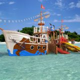 Water Park Pirate Ship Fiberglass Water Playground Equipment for Children Aqua Park