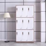 High quality metal locker 9 door school locker steel clothes locker cabinet