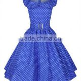 Best Quality Polka Dot 50s Rockabilly Pinup Party Swing Prom Dress