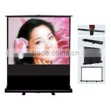 office equipment Portable floor up projector screen for descriptive exhibition