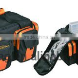 Fishing tackle bag with four plastic boxes