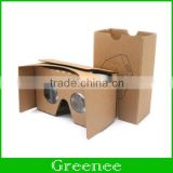 Google Cardboard Kit V2 Big Lens 3D Virtual Reality Cardboard Glasses Compatible with 3-6inch Screen for Smartphon