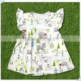 wholesale baby clothing 2016 new design baby girls boutique dresses summer flutter sleeve pattern children clothing