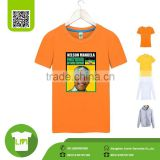 high quality election clothing mass production t shirts, custom printing voters head design plain t shirts wholesale china