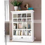 WH-4051 White Painted Solid Wood Bookcase with Drawer                                                                         Quality Choice
