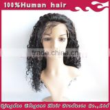 Black kinky curly hair100% brazilian virgin human hair lace front wigs for black women
