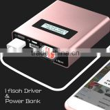 Biservice USB I Flash Driver HD And Power Bank 5V/2A 5200mAh (For Samsung ICR 18650 Lithium battery*2) For iphone ipad