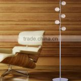 white shade elegant floor lamp crystal