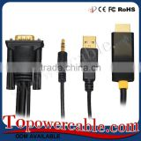 Ultra Flat High-Speed High Speed + Ethernet Gold 3D Hd Hdtv Lead 5M Hdmi Cable