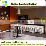 2014 LED used commercial bar sale/led disco furniture/bar counter boat shape bar counter
