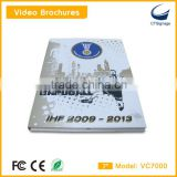 7 inch lcd video brochre card new arrival for advertise player video in print technology