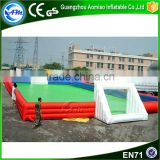 Hot sale inflatable soap soccer field for water game