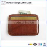 nice PU leather ID /name/credit card holder cheap wallet made in china