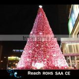 PVC giant Led motif tree light artificial christmas tree pink scene tree christmas decoration commercial display