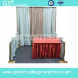 Aluminum trade show backdrop stand wedding pipe and drape for sale
