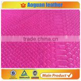 2016 pu animal skin leather & spilt leather for making handbags and fashion shoe leather