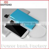 led torch power bank alluminium alloy ultra external battery charger polymer 8000MAH christmas gifts power bank