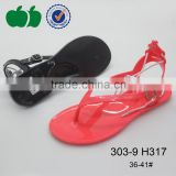 New design fashion simple model sexy ladies jelly sandals