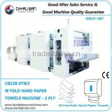 Gluing 2 Ply W Fold Hand Towels Paper Dispenser Manufacturing Machine