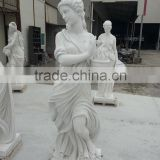 Life-Size White Marble Jade Sculptures for sale