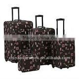 4pcs trolley luggage/suitcase 21''/24''/28''/32'' built in handle