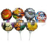 2016 Halloween Self inflatable balloon Halloween Foil Balloon auto inflate balloon