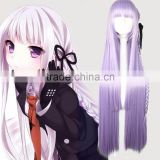 Hot Selling Cosplay wig 100cm Dangan Ronpa Kyouko Kirigiri Cosplay Wig with Braid Light Purple