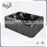 fashional freestanding portable plastic bathtub for adult with round lifting speaker*2pcs